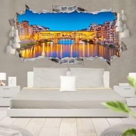 Vinilos 3D panorámica Florencia Italia