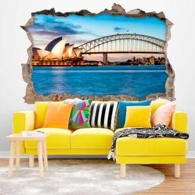 Vinilos decorativos Sídney Australia 3D