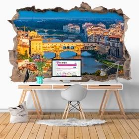 Vinilos decorativos ponte vecchio Florencia Italia 3D