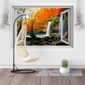 Vinilos ventana cascadas Heo Suwat 3D