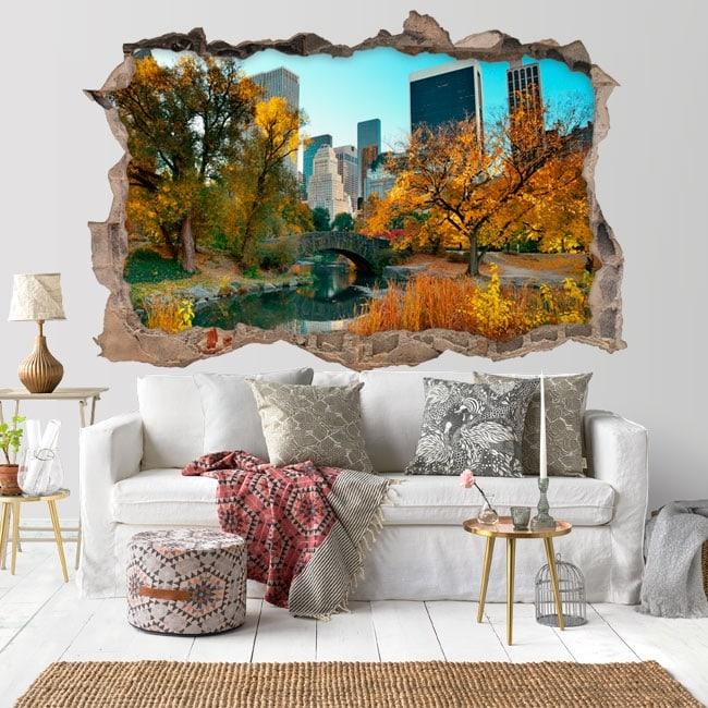Vinilos Central Park New York 3D