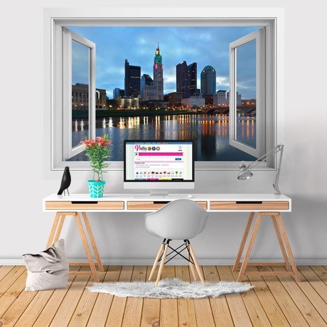 Vinilos río Scioto ciudad Columbus Ohio 3D