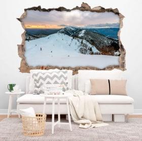 Vinilos paredes Invierno montañas Eslovenia 3D