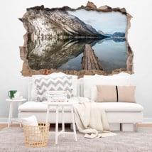 Vinilos lago Bohinj Eslovenia 3D