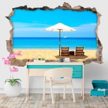 Vinilos decorativos días de playa 3D