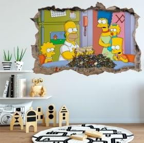 Vinilos adhesivos Los Simpsons 3D