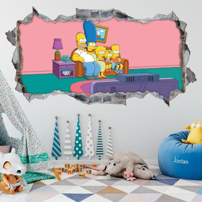 Vinilos decorativos Los Simpsons 3D