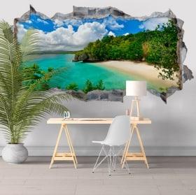 Vinilos paredes Big Lagoon Islas Filipinas 3D