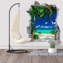 Vinilos palmeras Big Lagoon Islas De Filipinas 3D