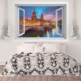 Vinilos paredes puente de Oberbaum Berlín 3D