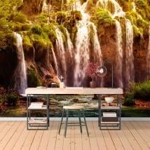Fotomurales cascadas en la montaña