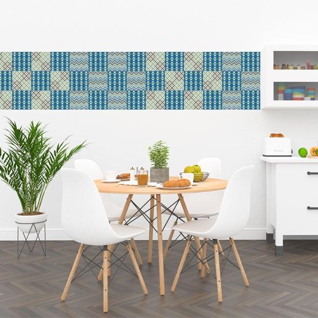 Vinilos decorativos azulejos y baldosas cocinas for Azulejos decorativos cocina