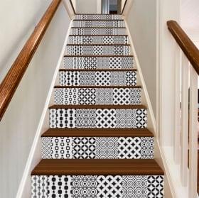 Vinilos decorativos azulejos para escaleras