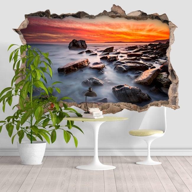 Vinilos decorativos Rocky Beach 3D