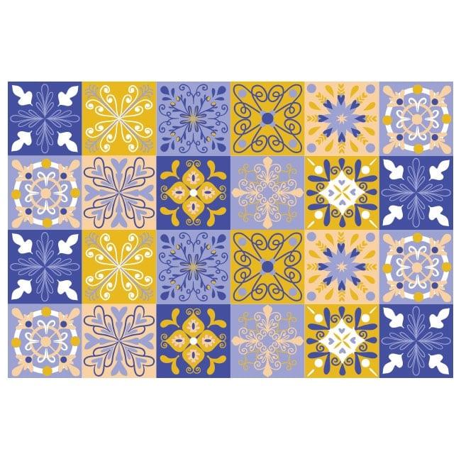Vinilos decorativos azulejos paredes for Vinilos pared azulejos