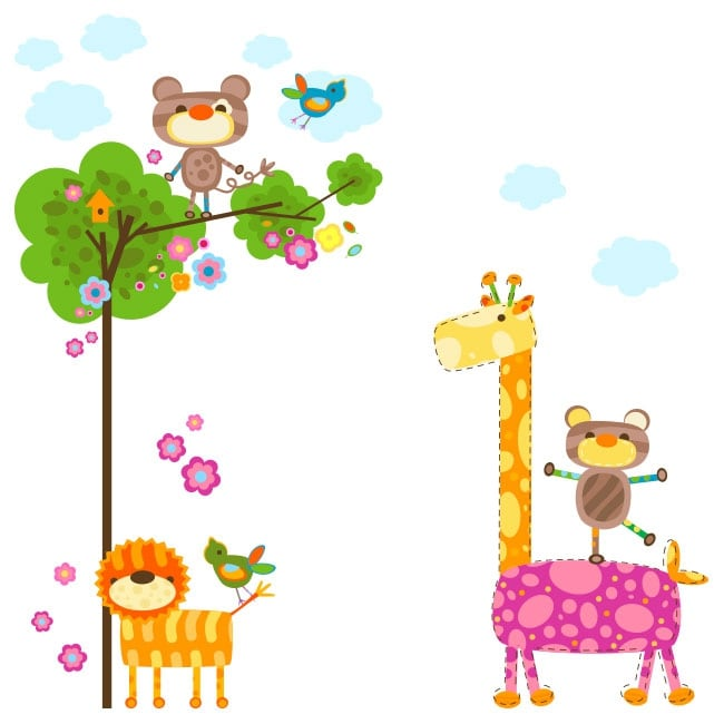 Vinilos infantiles animales naturaleza for Vinilos infantiles animales