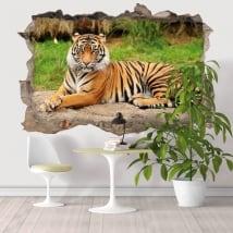 Vinilos decorativos tigre de Bengala 3D