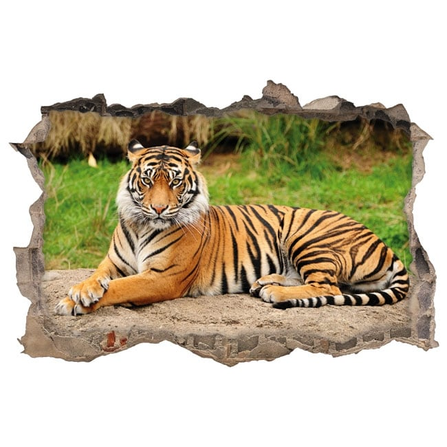 Vinilos decorativos tigre de bengala 3d for Vinilos decorativos 3d