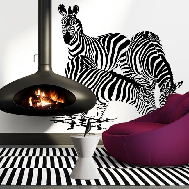 Vinilos decorativos Zebras