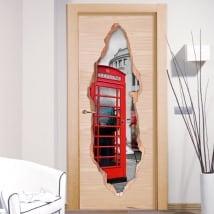 Vinilos decorativos puertas Londres 3D