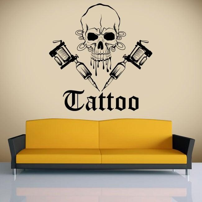 Vinilos decorativos calavera tattoo