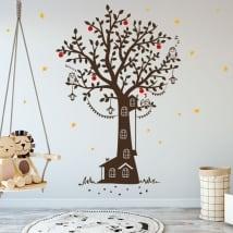 Vinilo decorativo infantil casa árbol
