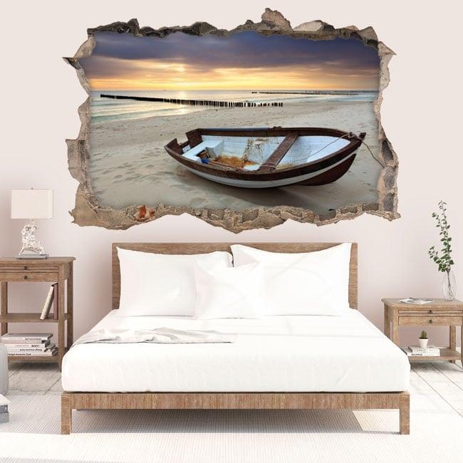 Vinilos decorativos amanecer en la playa 3d for Vinilos decorativos 3d