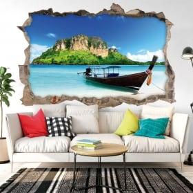 Vinilos decorativos playas de Tailandia 3D