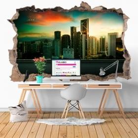 Vinilos 3D ciudad Kuala Lumpur Malasia