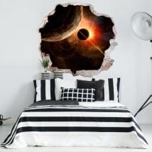 Vinilos decorativos planetas y cosmos 3D