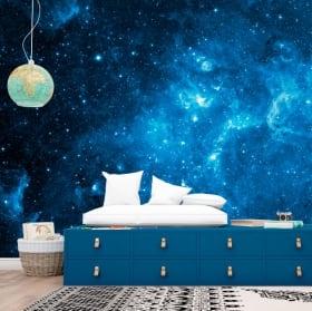 Fotomurales de vinilos estrellas en el cosmos 3D