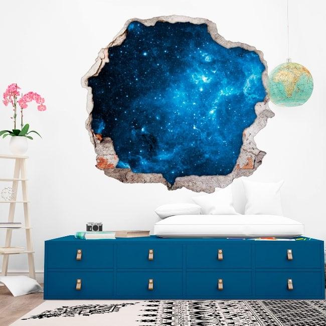 Vinilos de pared estrellas en el cosmos 3D