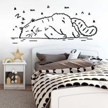 Vinilos decorativos la siesta del gato