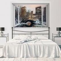 Vinilos ventana Central Park Nueva York 3D
