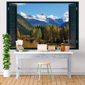 Vinilos decorativos Canadá parque nacional Banff 3D