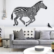 Vinilo decorativo de pared zebras
