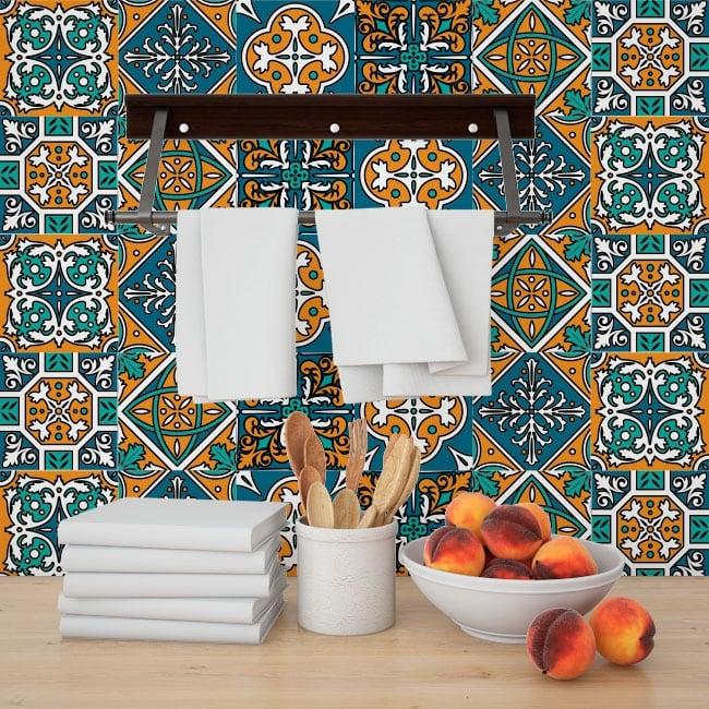 Vinilos adhesivos azulejos para cocinas - Adhesivo para azulejos ...