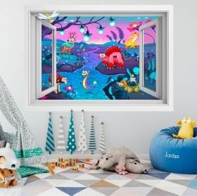 Vinilos infantiles fantasía animal 3D