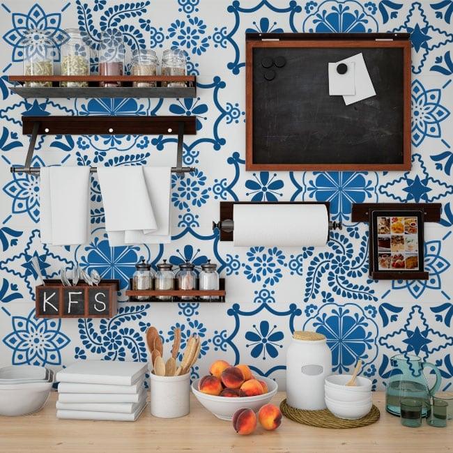 Vinilos para decorar azulejos cocinas y ba os for Vinilos pared azulejos
