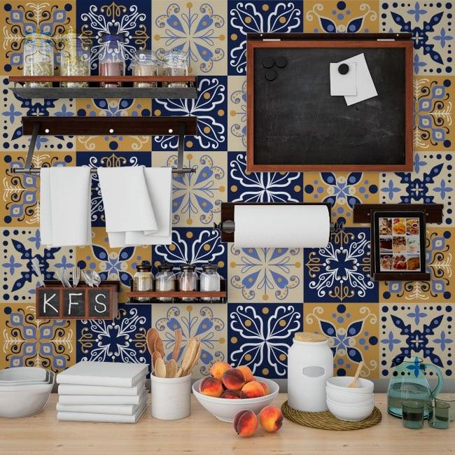 Vinilos decoracin paredes azulejos