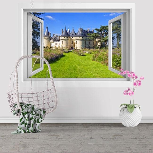 Vinilos decorativos castillo de Chenonceau Francia 3D