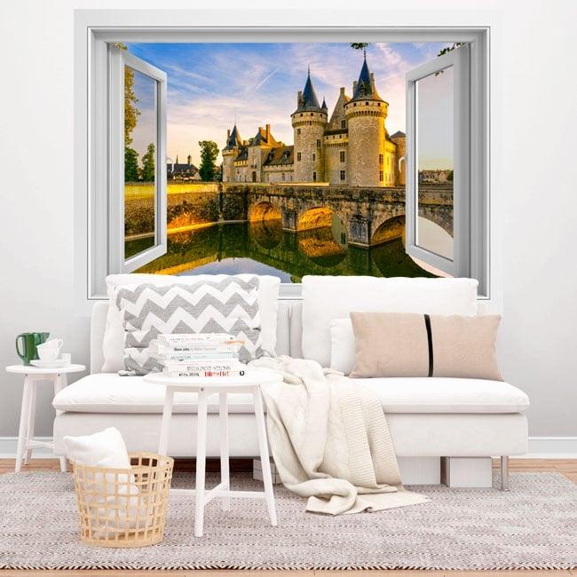 Vinilos adhesivos Francia castillo de Chenonceau 3D