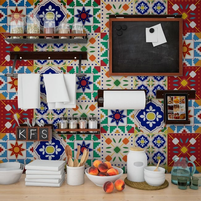 Vinilos azulejos de pared for Vinilos pared azulejos