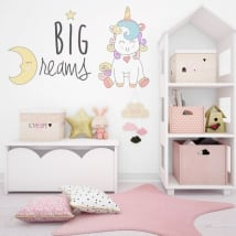 Vinilos decorativos unicornio big dreams