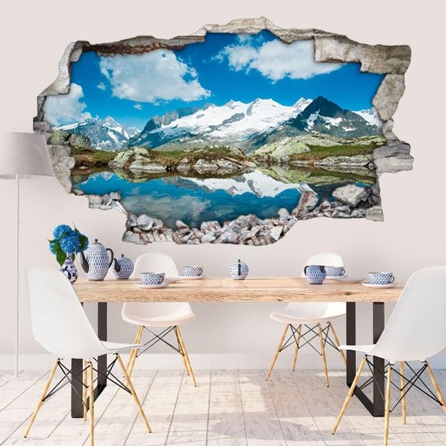 Vinilos de pared Alpes Suizos 3D