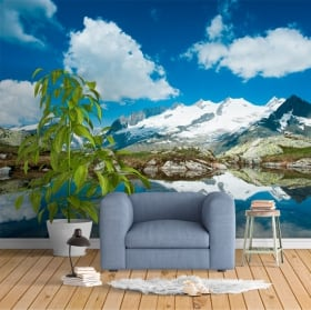 Fotomurales montañas Alpes Suizos
