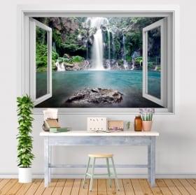 Vinilos cascadas Isla Reunión 3D