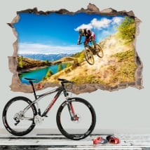 Vinilos decorativos mountain bike 3D