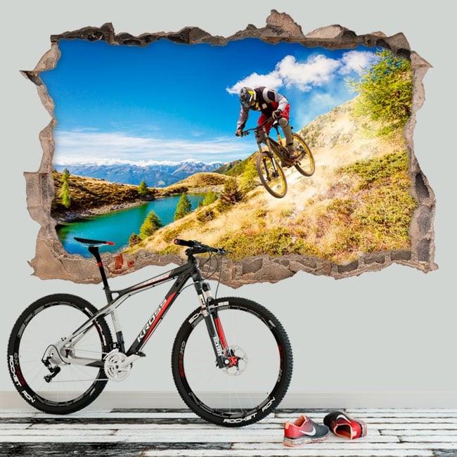 Vinilos decorativos mountain bike 3D