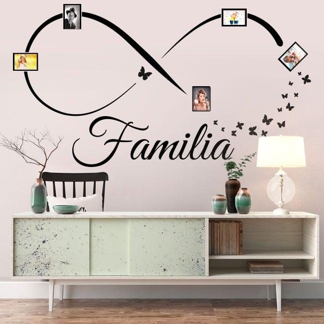 Vinilos decorativos infinito fotos familia mariposas